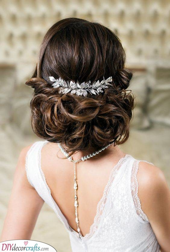 A Dazzling Bun - With Bridal Accessories