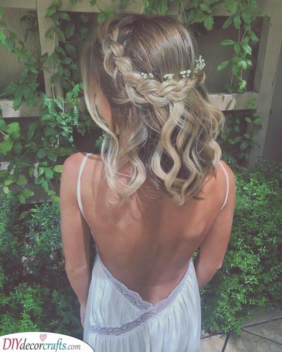 Natural and Bohemian - Medium Length Wedding Hairstyles