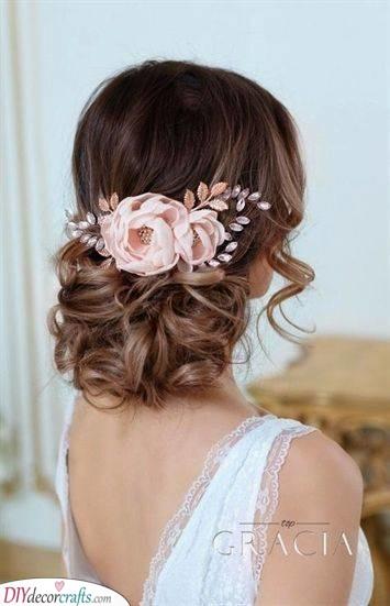 Pink Roses - Wedding Hairstyles for Medium Hair