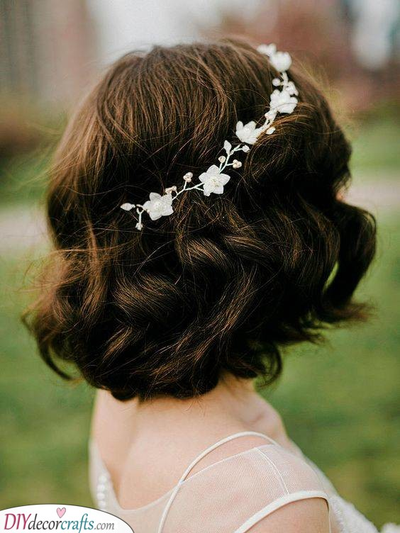 A Wedding Bob - With Delicate Flowers