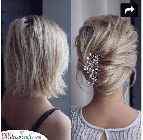 A French Twist - Perfect for Shorter or Medium Hair