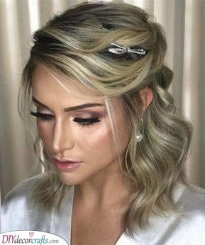 Elegant and Simple - Wedding Hairstyles for Medium Hair