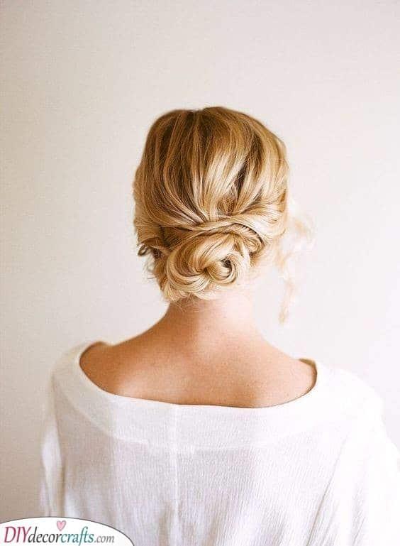 A Simple Bun - Bridal Hairstyle Ideas
