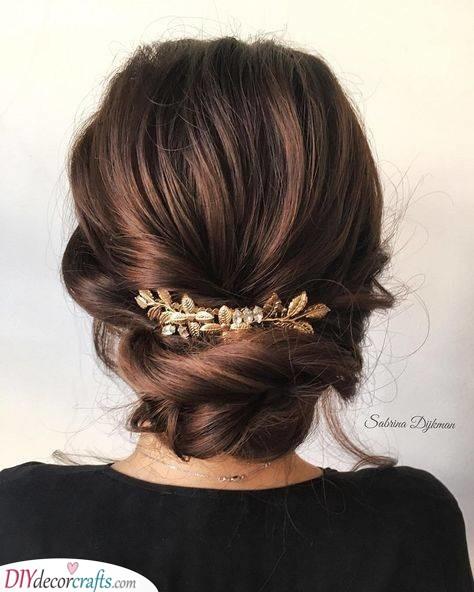 Gold Leaf Comb - Wedding Hair Accessories