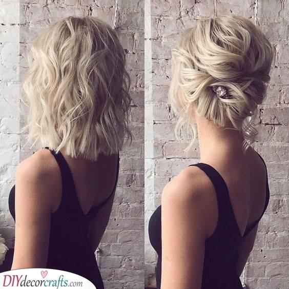 An Easy Twist - Wedding Hairstyles for Medium Length Hair