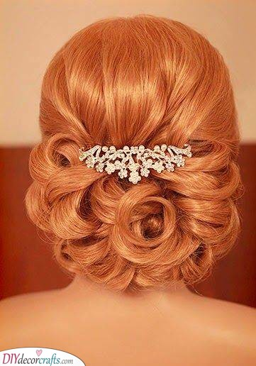 A Detailed Bun - Medium Length Wedding Hairstyles