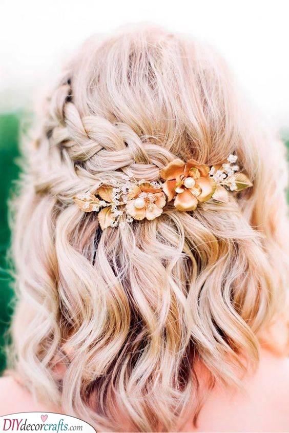A Romantic Braid - Medium Length Wedding Hairstyles