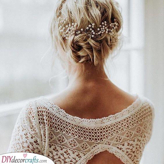 A Braided Bun - Medium Length Wedding Hairstyles