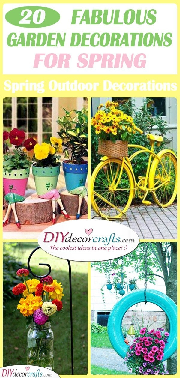 20 FABULOUS GARDEN DECORATIONS FOR SPRING - Spring Outdoor Decorations