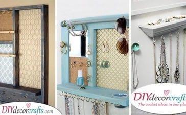 25 DIY JEWELLERY ORGANIZERS - Fabulous Jewellery Storage Ideas