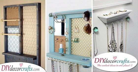 25 DIY JEWELLERY ORGANIZERS - Fabulous Jewellery Storage Ideas