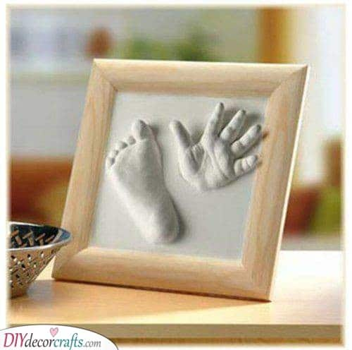 A Hand and Foot Plaster Cast - 1st Birthday Gift Ideas for Girls