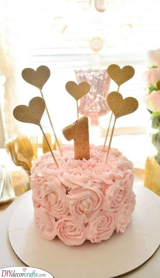 A Beautiful Birthday Cake - First Birthday Presents for Girls