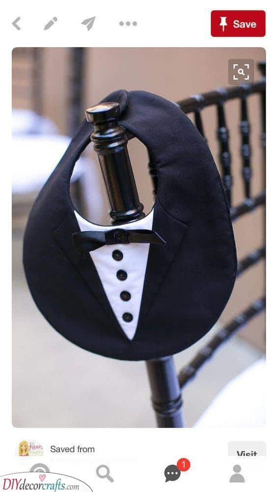 A Tuxedo Bib - Don't Let Food on Drip on His Clothes
