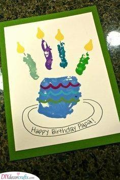 Birthday Cake Card - Crafts for the Kids