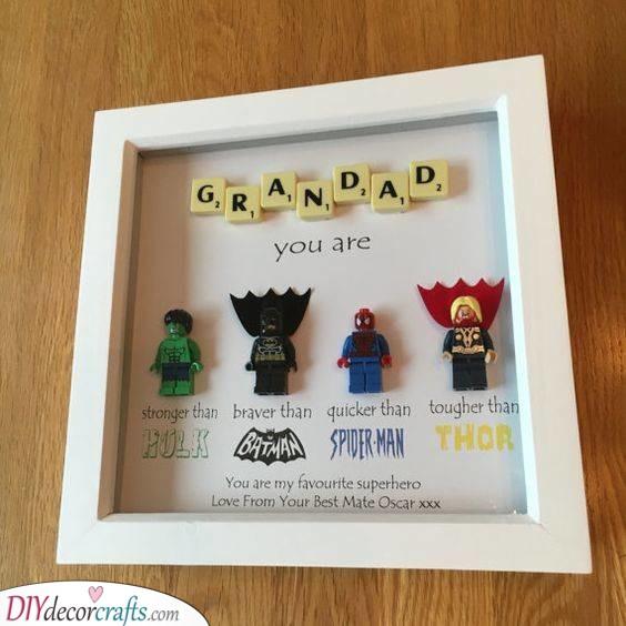 A Real-Life Superhero - Homemade Birthday Gifts for Grandpa