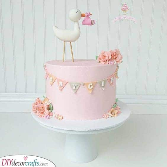 The Stork Delivers the Baby - Baby Shower Cake Ideas