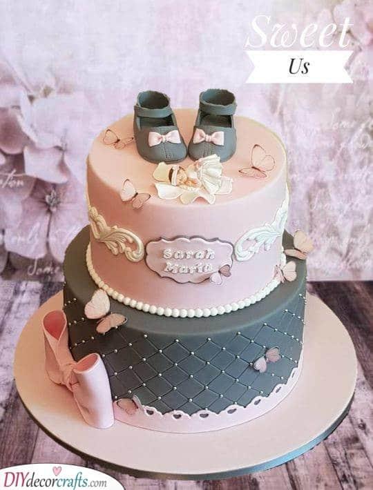 Fluttery Butterflies - Cake Ideas for Baby Girls