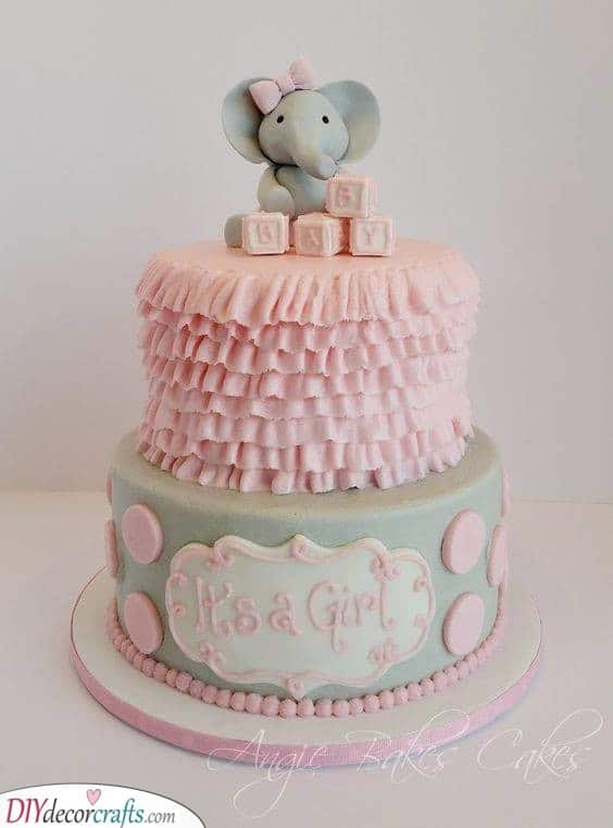 An Excellent Elephant - Baby Shower Cake Ideas