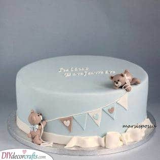 Bears with a Banner - Unique Cake Ideas