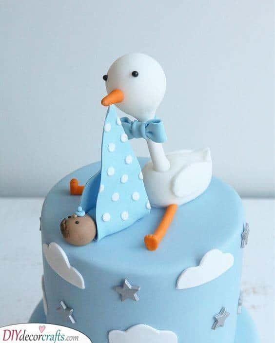 Bringing the Baby - Stork Cake Ideas