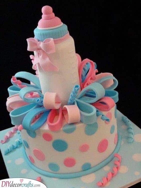 Baby Bottle - Baby Shower Cakes