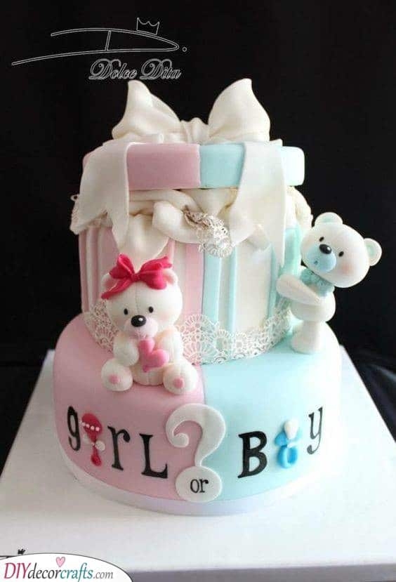 The Moment of Truth - Baby Shower Cake for Girls or Boys