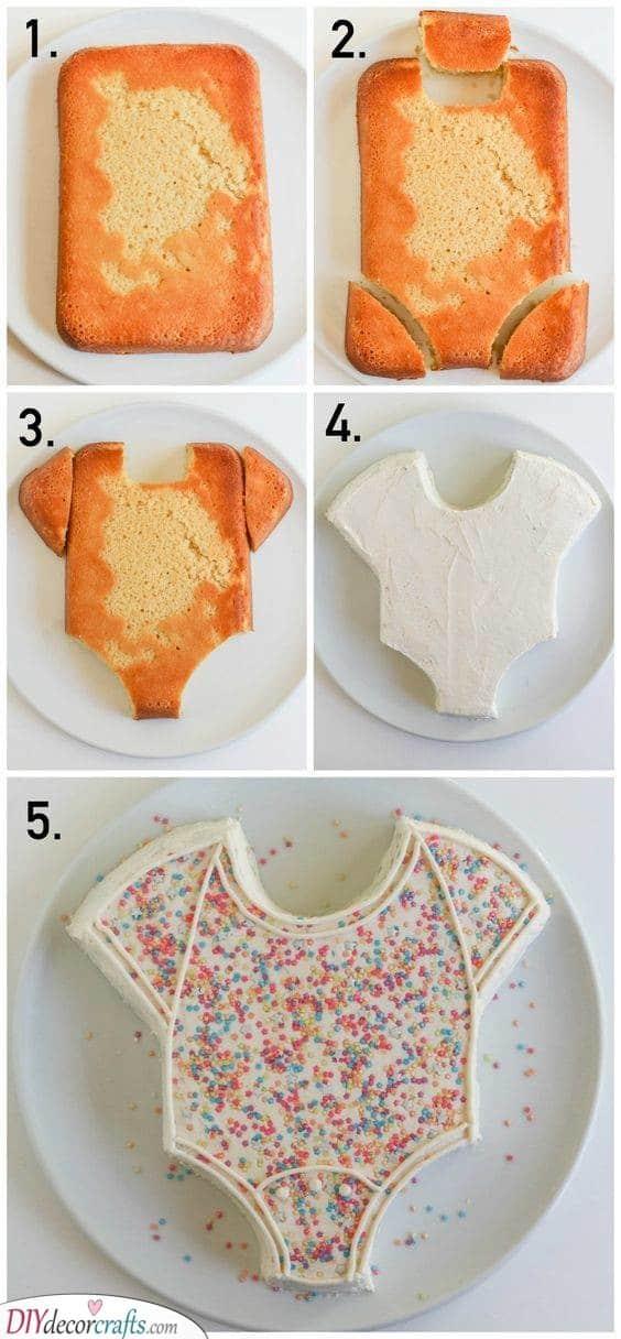 An Adorable Onesie - Baby Shower Cake Ideas