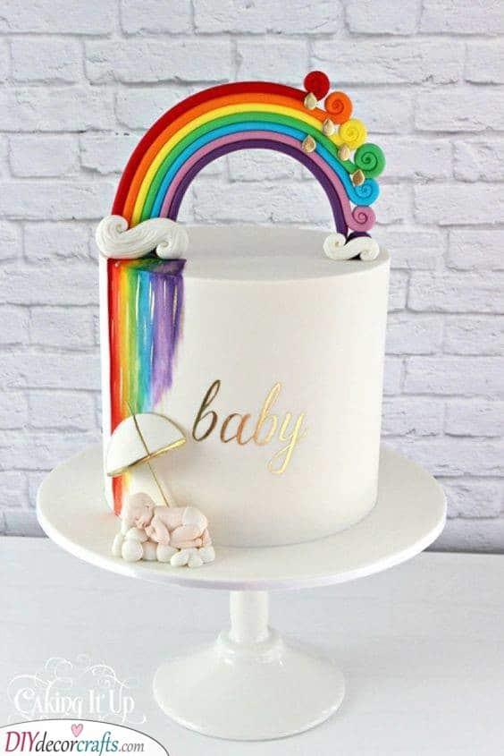 A Rainbow Shower - Gorgeous Cake Ideas