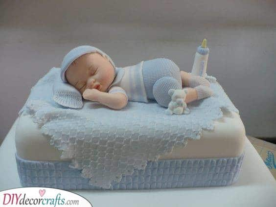 A Sleeping Baby - Create the Perfect Cake