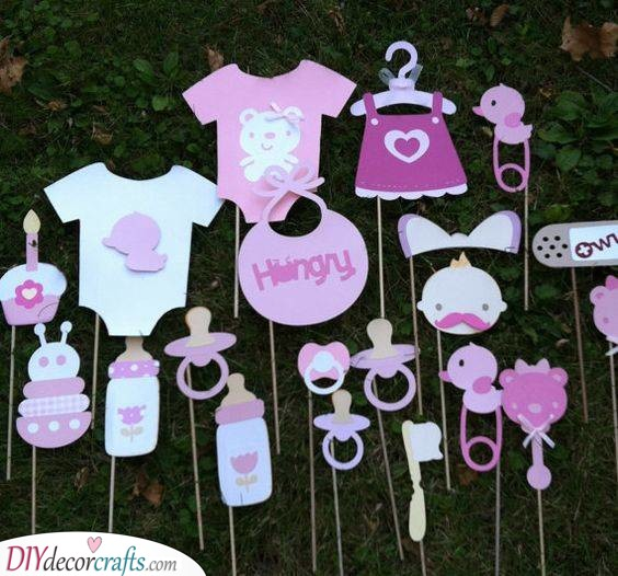 Photo Booth Props - Baby Shower Party Ideas