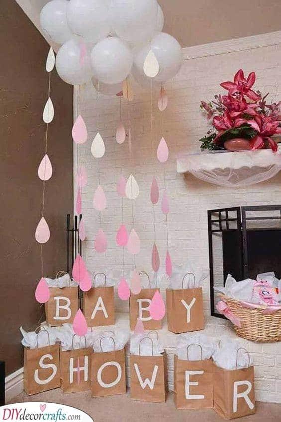 A Shower of Rain - Baby Shower Ideas for Girls