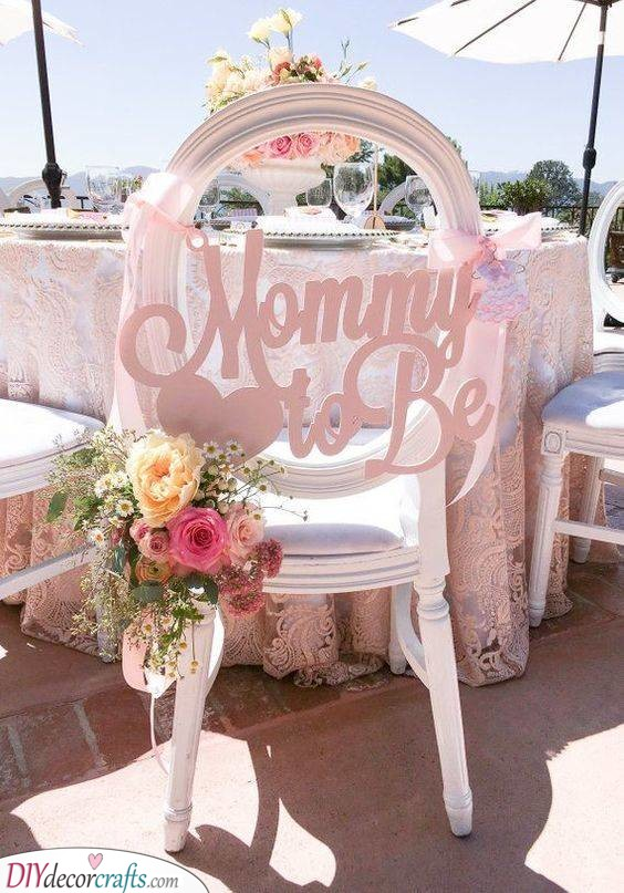 Chair Decor - Spruce up the Baby Shower