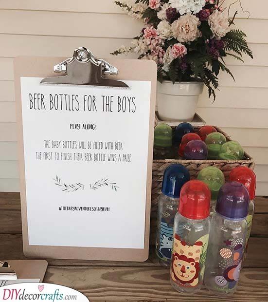 Beer in Baby Bottles - Fun Games for the Men