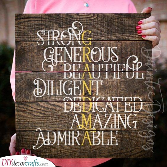 A Definition of Grandma - Heartfelt Gift Ideas