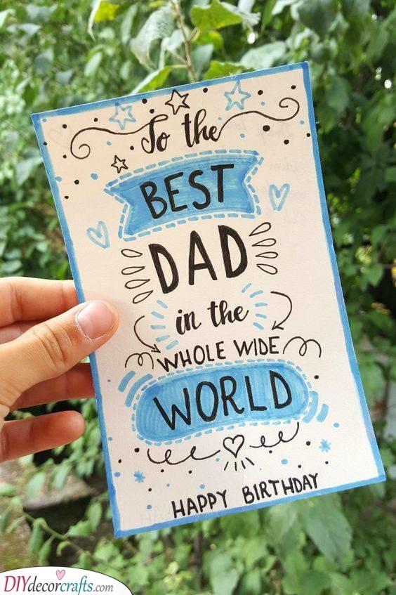 A Heartfelt Card - Birthday Gifts for Dad