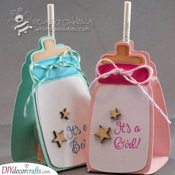 Baby Bottle Cards - Baby Shower Invitation Ideas