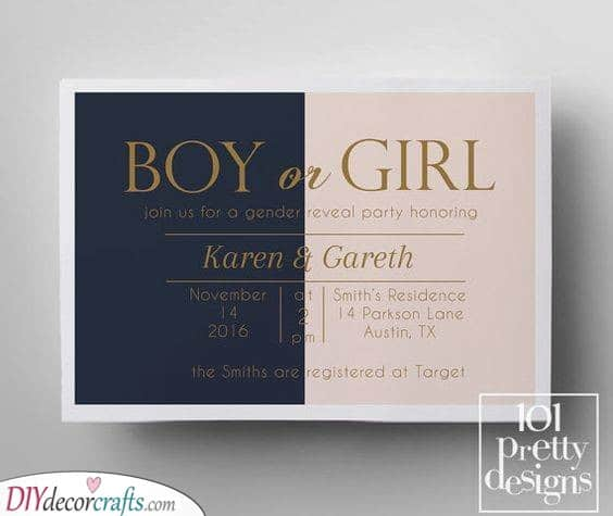 Gender Revealing Party - An Awesome Invitation