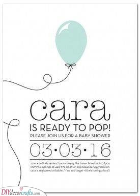Ready to Pop - Baby Shower Invitation Ideas