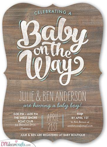 Baby on the Way - Small Wooden Boards