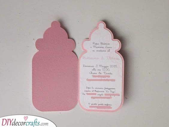 Another Baby Bottle Idea - Baby Shower Invitations for Girls