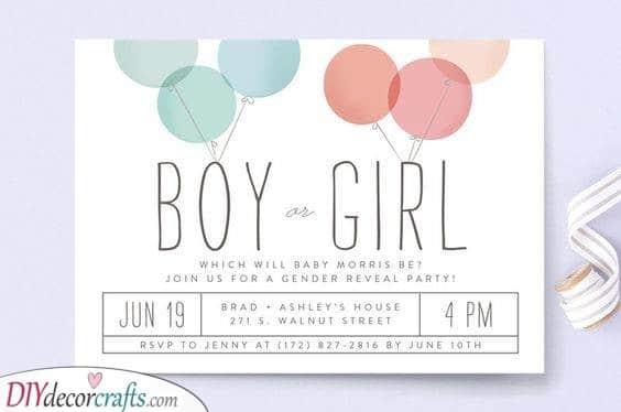 Beautiful Balloons - Cheap Baby Shower Invitations