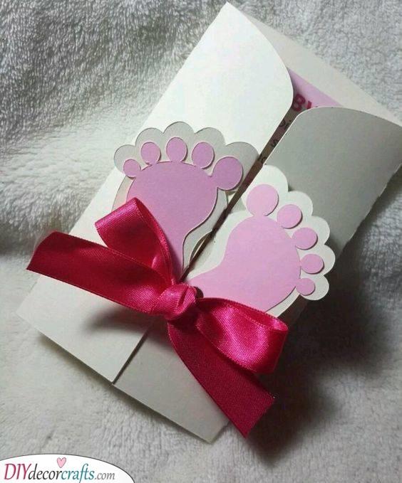 Tiny Baby Feet - Custom Baby Shower Invitations