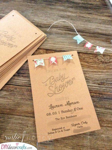 A Rustic Vibe - Perfect Baby Shower Invitations