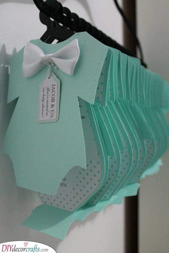 A Cute Onesie - Custom Baby Shower Invitations
