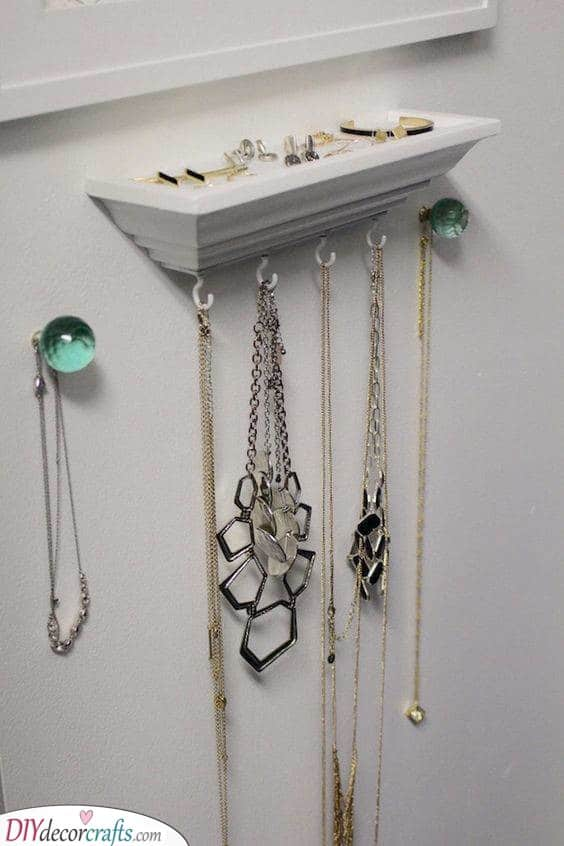 A Mini Table - Hanging Jewellery Organizer