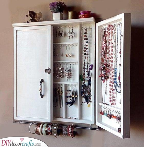 A Whole Cabinet - Jewellery Storage Ideas