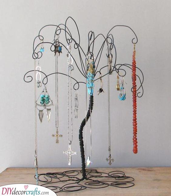 A Wired Tree - Beautiful Jewellery Holder Idea