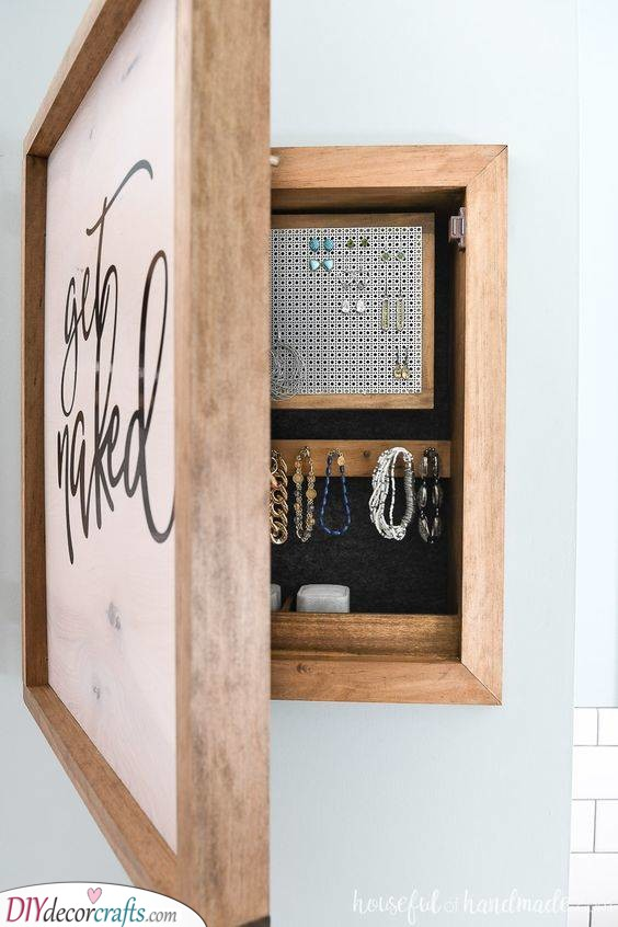 A Wooden Cabinet - Perfect for Storing Accessories