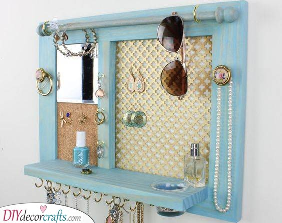 Spruce Up Your Room - DIY Jewellery Organizer